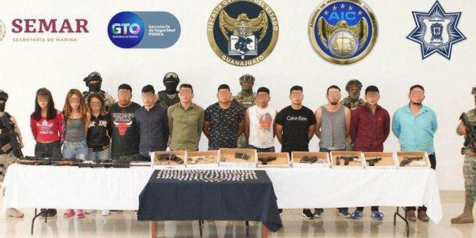 En videos, detenidos en Guanajuato se ostentan como del CJNG: Fiscal