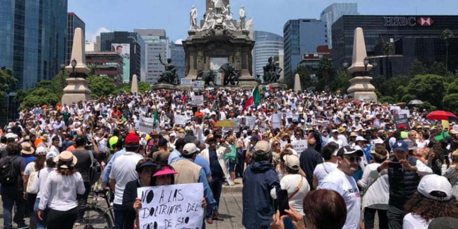 Protestan por cancelación del aeropuerto en Texcoco