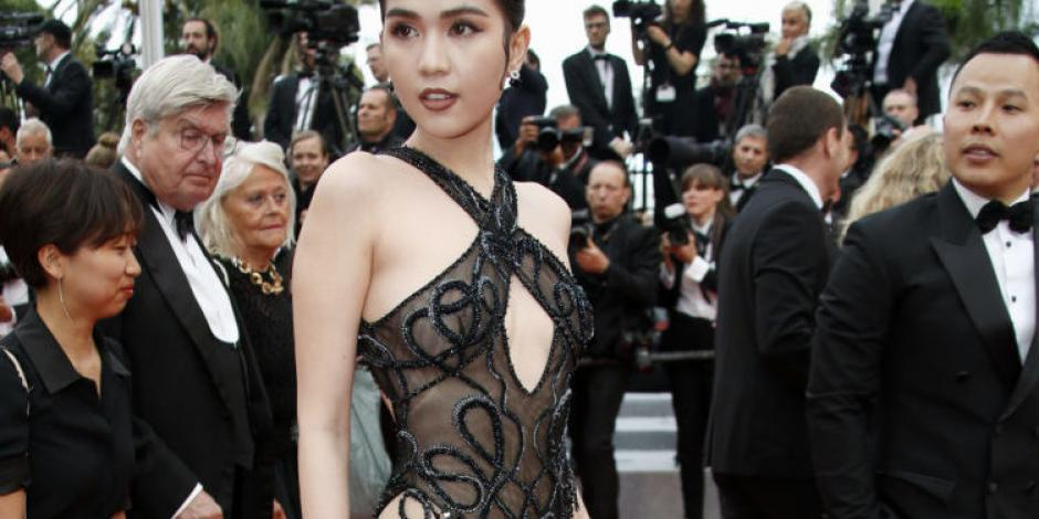 Modelo vietnamita podría ser castigada por vestir transparencia en Cannes