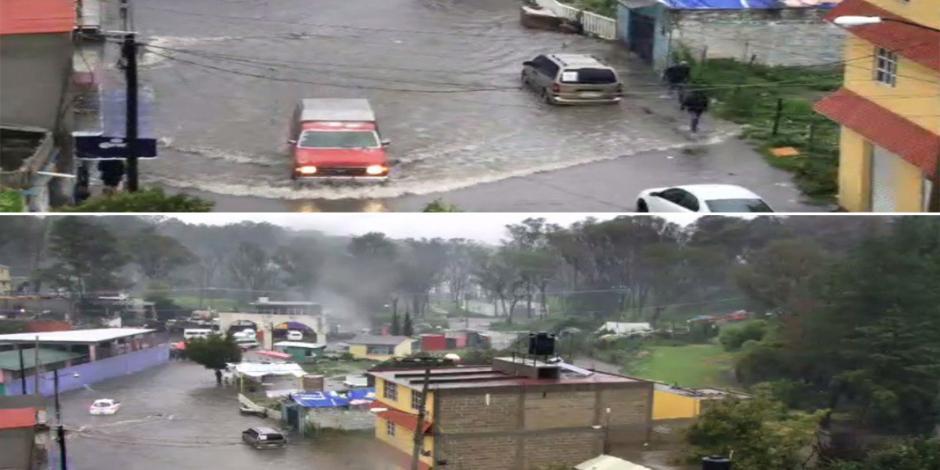 Lluvia desborda río e inunda viviendas en Nicolás Romero