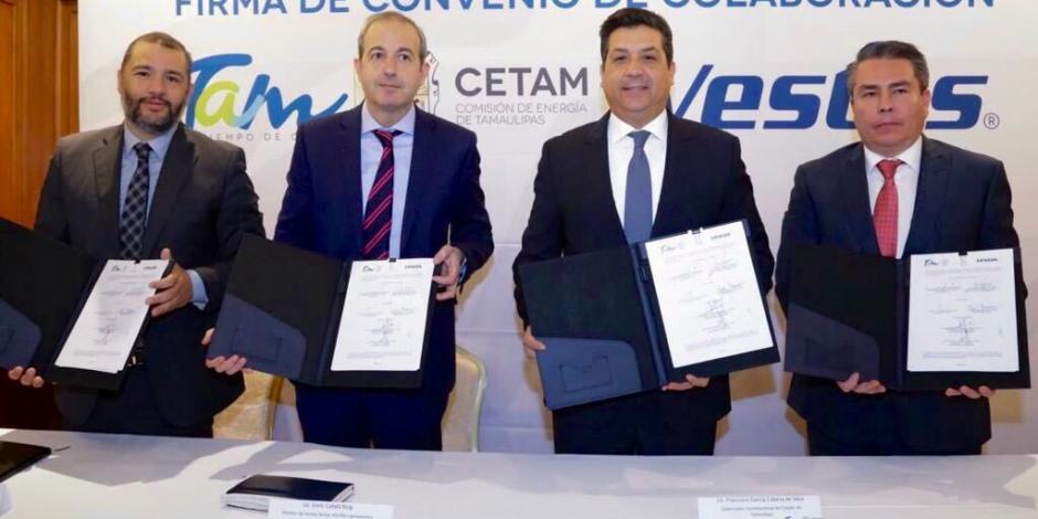 Tamaulipas suscribe convenio de colaboración con Vestas Wind Systems