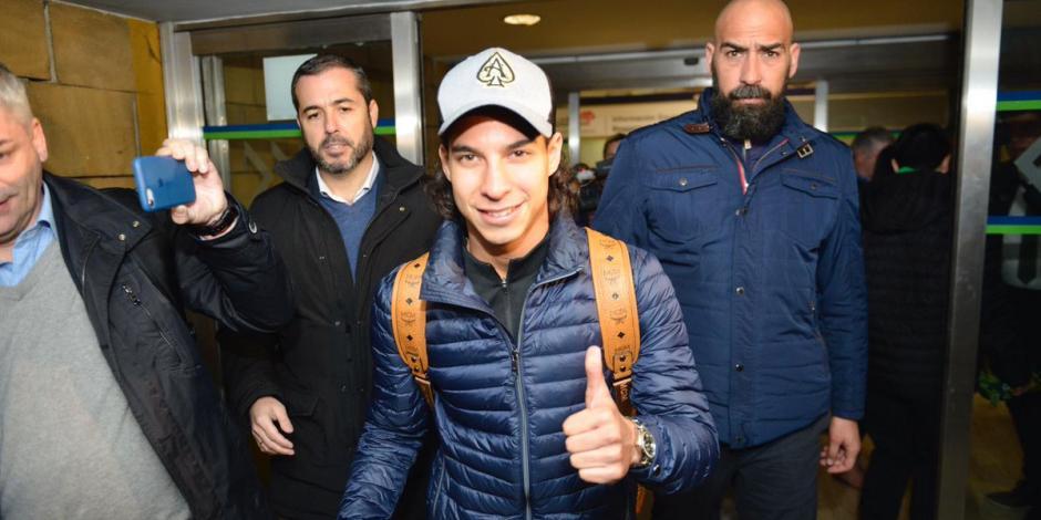 Diego Lainez ya está en España para reportar con el Real Betis