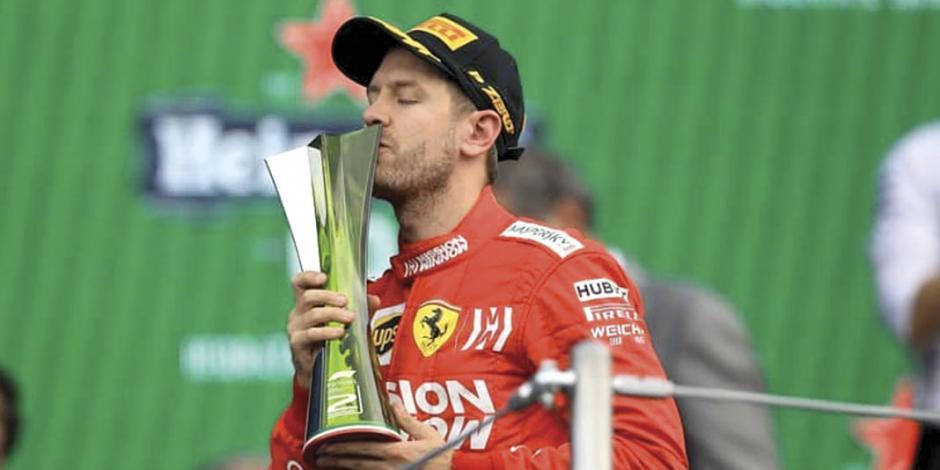 Sebastian Vettel critica trofeos del Gran Premio de México