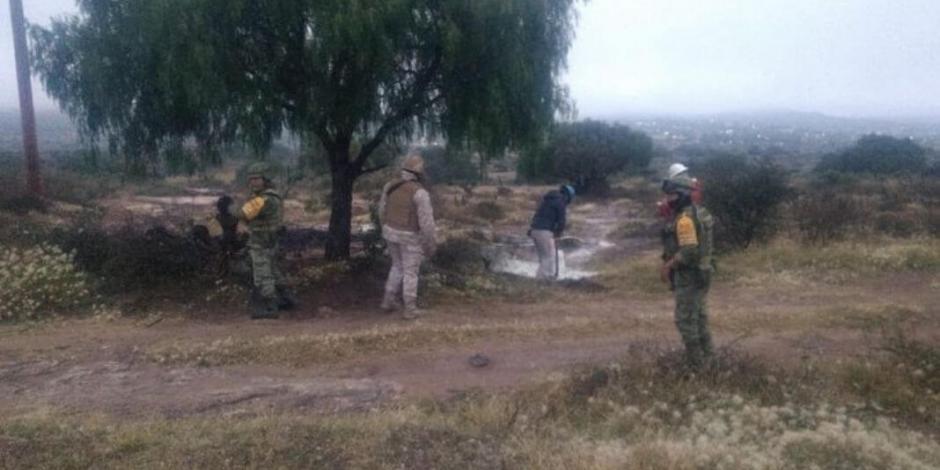 Reportan fuga de combustible en ducto de Pemex en Hidalgo