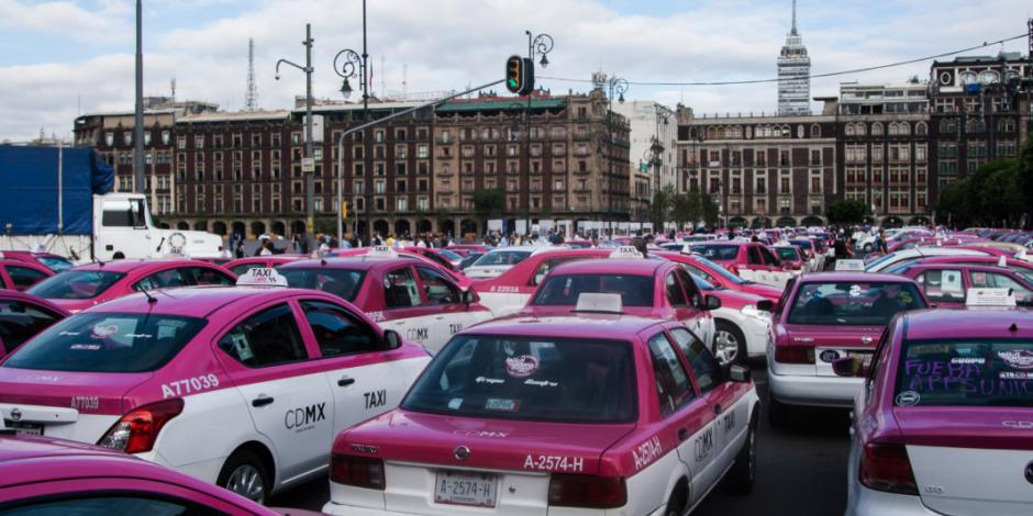 Autoridades alertan a capitalinos por marcha de taxistas este lunes