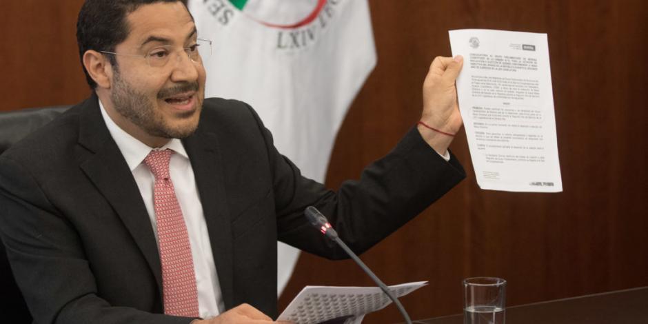 Monreal violó su propia convocatoria para Presidencia del Senado: Batres