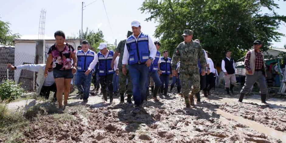 Supervisa gobernador de Tamaulipas acciones para atender afectación por inundaciones