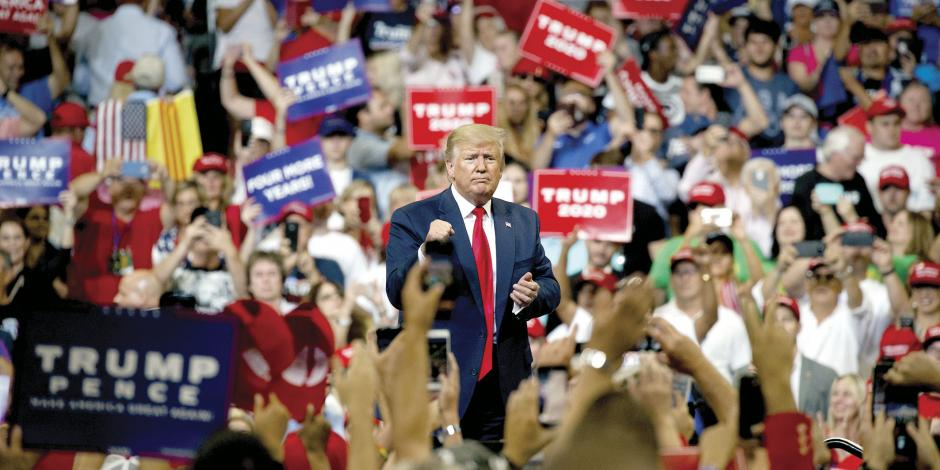 Trump avergüenza a casi 60% de los suyos, pero aún lo apoyan
