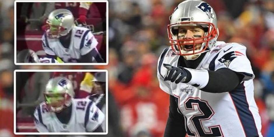 VIDEO: Investiga la NFL uso de luz láser contra Tom Brady