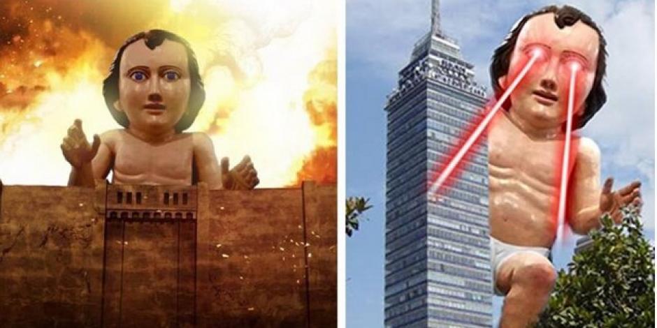 Niño Dios gigante rompe las redes; esta es su historia...en memes