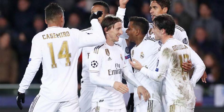 Real Madrid golea al Brujas y avanza segundo en la Champions League