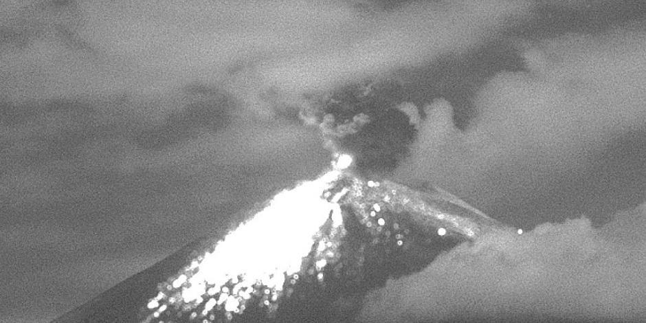 Por explosión moderada del Popocatépetl, activan alerta amarilla fase 2