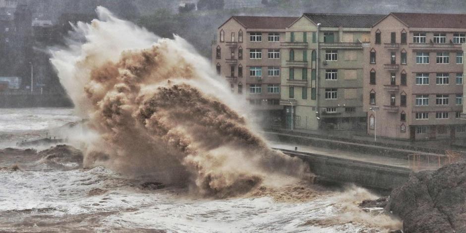 Supertifón azota la costa este de China; reportan 18 muertos