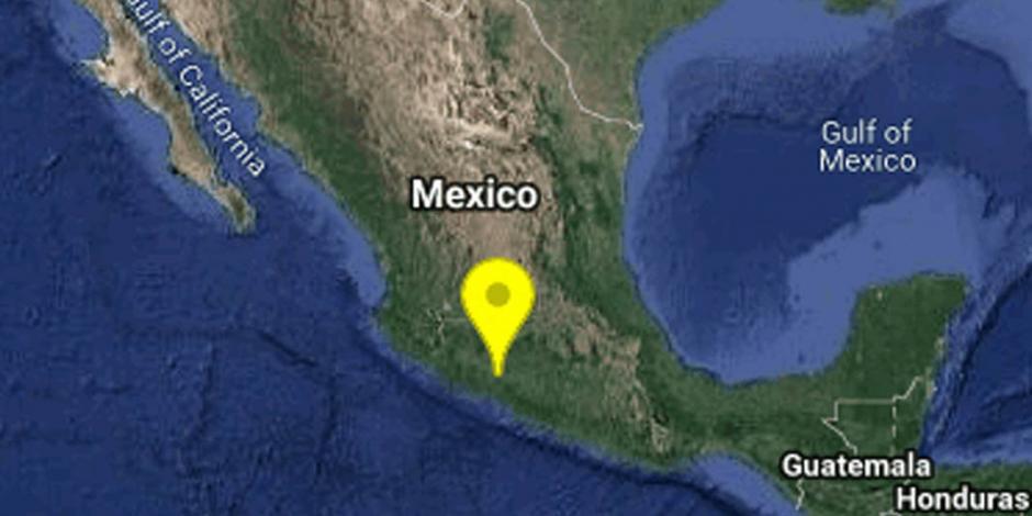 Reportan sismo de magnitud 5.1 en Michoacán