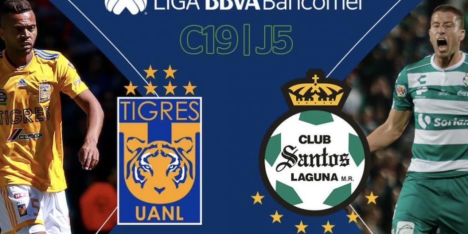 Tigres vence 2-1 a Santos y logra primer triunfo como local en Clausura