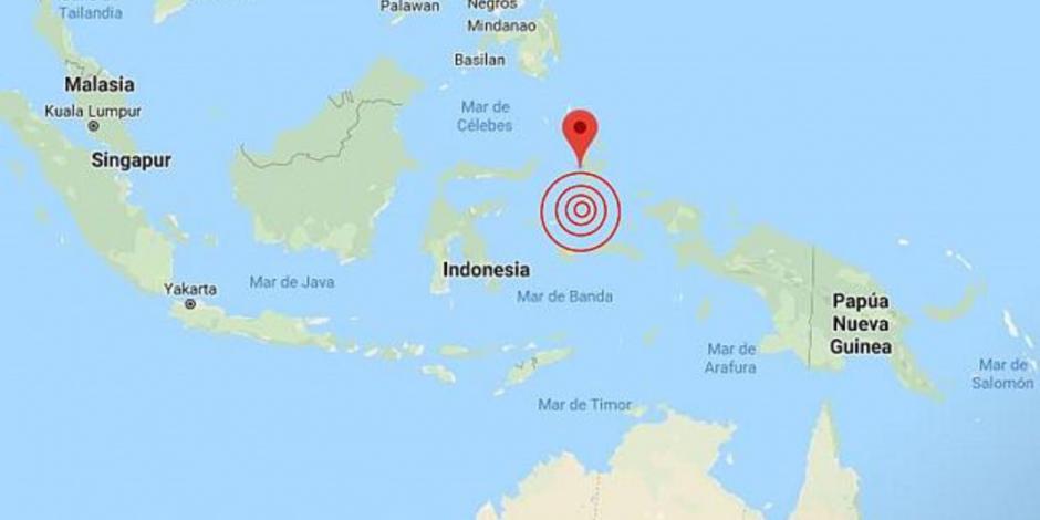 Emiten alerta de tsunami tras sismo de magnitud 7.1 en Indonesia