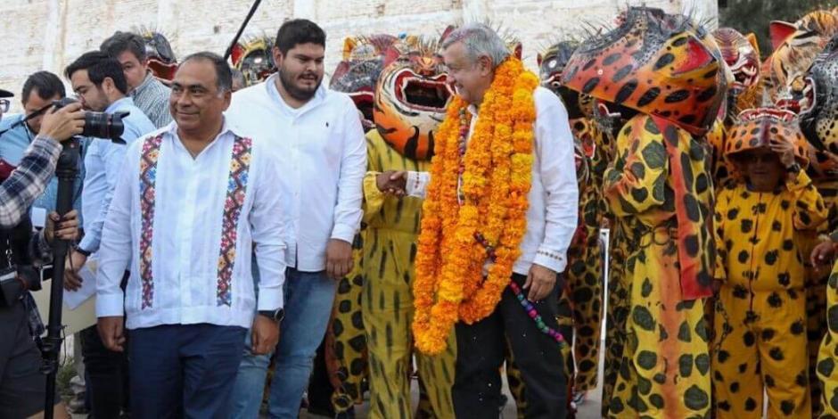Respalda AMLO al gobernador Héctor Astudillo en su visita a Chilapa