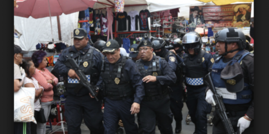 Policías realizan operativo en Tepito; buscan sustancias ilícitas