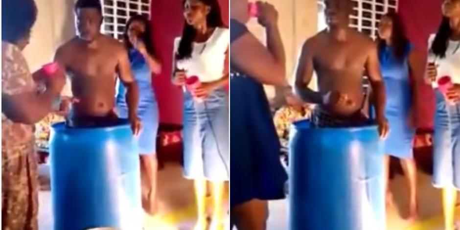 Pastor le da de beber a sus fieles el agua con la que se baña (VIDEO)