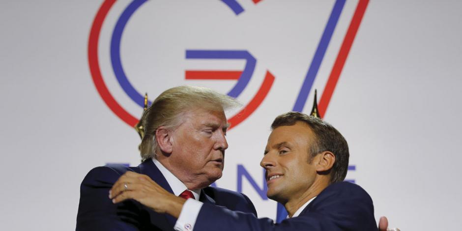 Macron enfría tensión nuclear, pero G7 queda sin consenso en tema ambiental y discurso de odio