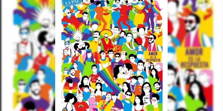 ¡Orgullo 41: Ser es resistir!: Cartel ganador de marcha LGBTTTI 2019