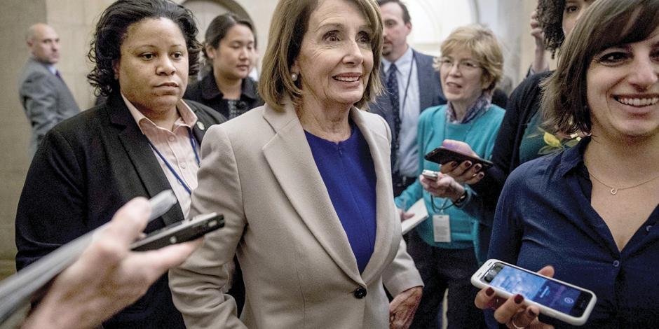 Pelosi: debate de muro hasta reabrir gobierno