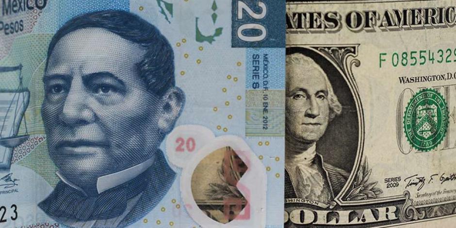 Dólar sigue a la baja, se vende en 19.37 pesos en bancos