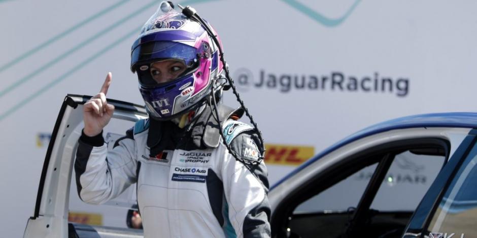 Katherine Legge, primera mujer que conquista el Jaguar I Race E Trophy