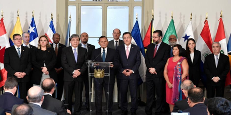 Grupo de Lima desconoce próximo gobierno venezolano; México se abstiene