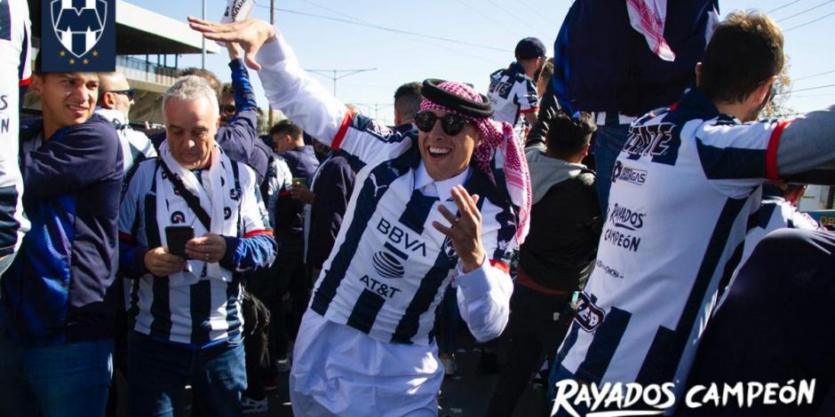 Las imágenes del festejo de Rayados con su afición en Monterrey