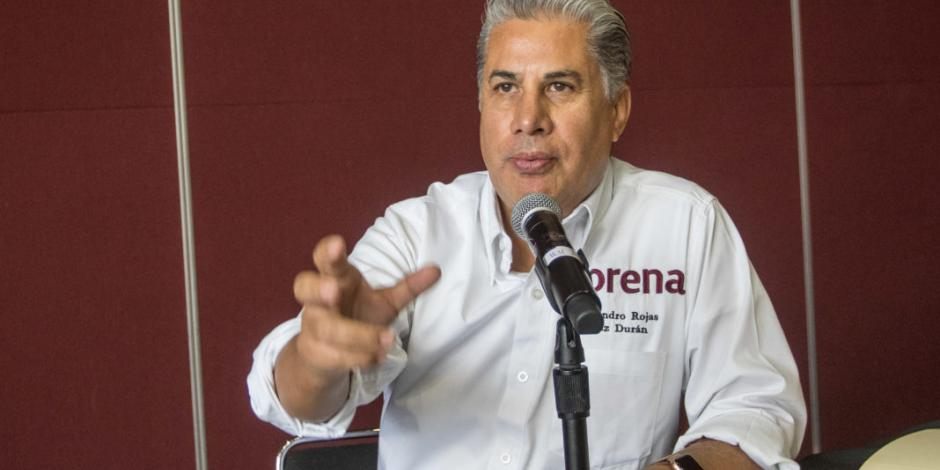 Alejandro Rojas anuncia que va por dirigencia de Morena