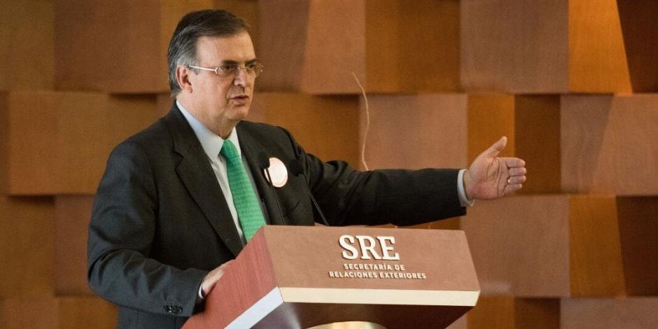 Haremos diplomacia de unidad nacional para defender soberanía: Ebrard