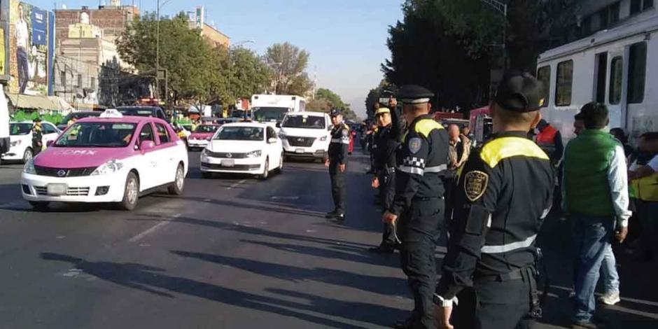 Con 100 cadetes protegen a turistas