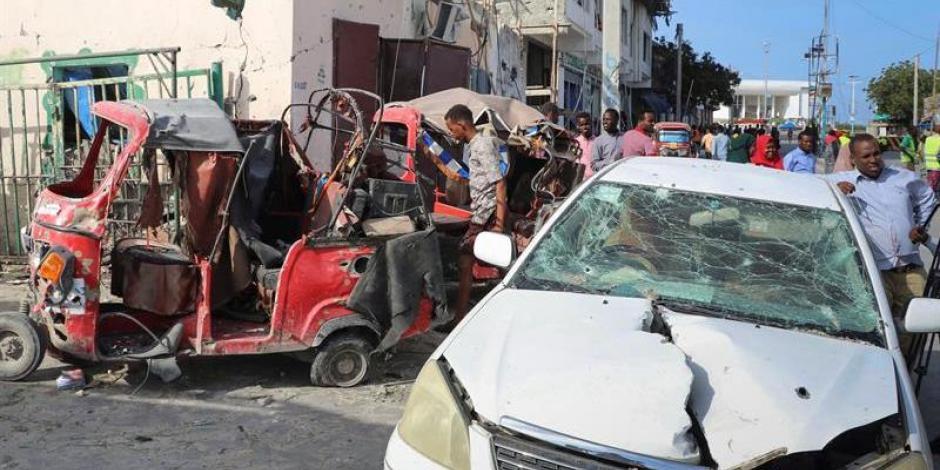 Reportan dos explosiones en centro de Somalia que dejaron 13 personas fallecidas