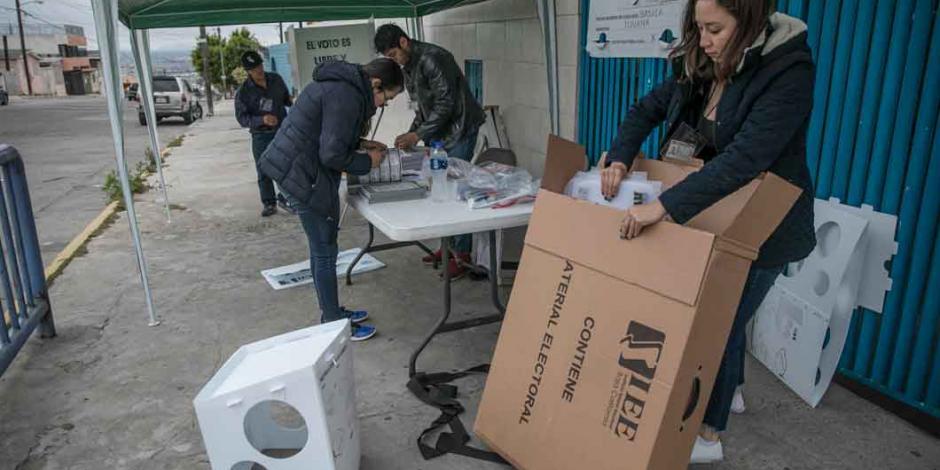 Instalan 98.92 % casillas en elección de Baja California