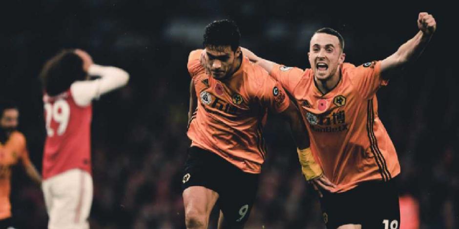 Jiménez vuelve a anotar; ahora consigue empate de Wolves ante Arsenal