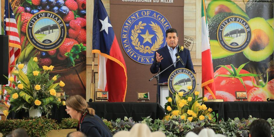 Cabeza de Vaca fortalece comercio agrícola entre Tamaulipas y Texas