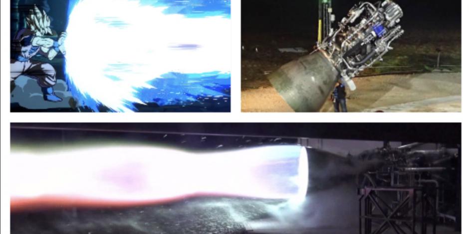 Elon Musk prueba motor espacial; lo comparan con el