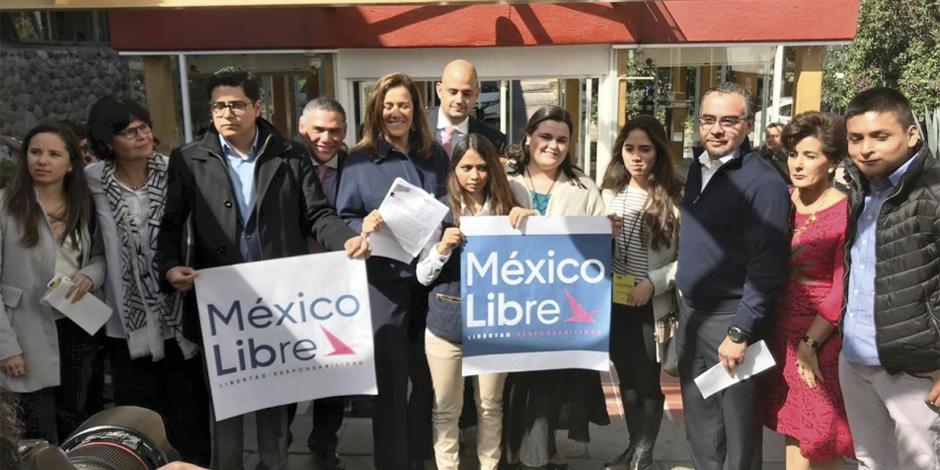 Margarita Zavala pide al INE hacer de ONG partido político