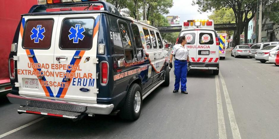 Cuerpos de emergencia se movilizan por reporte de herido en inmediaciones de San Lázaro