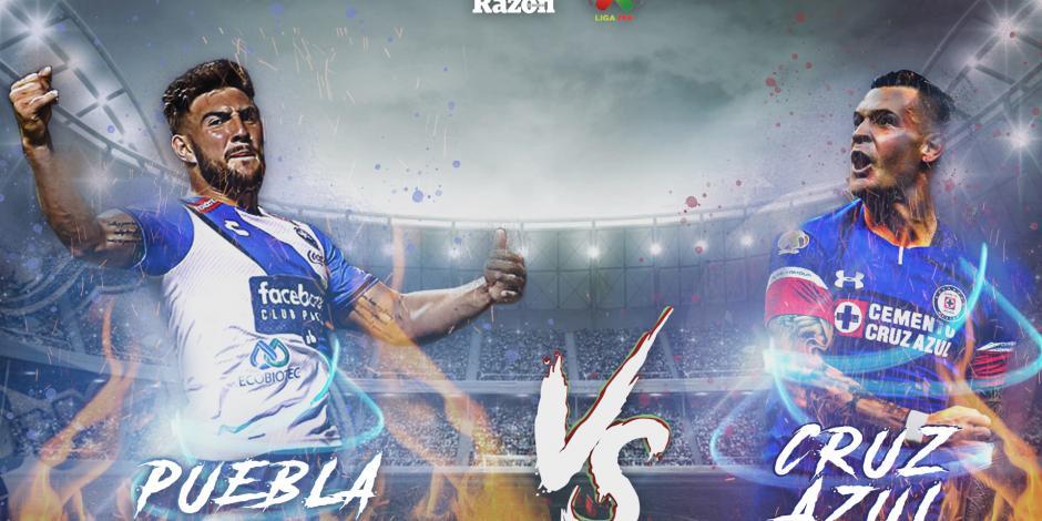 Puebla y Cruz Azul empatan a un gol en en el Estadio Cuauhtémoc