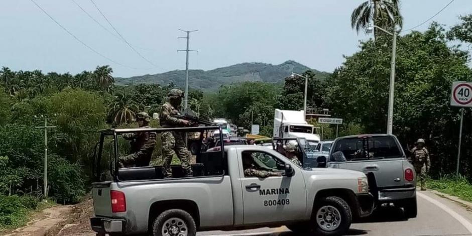 Luego de cuatro horas, liberan a marinos retenidos en Guerrero