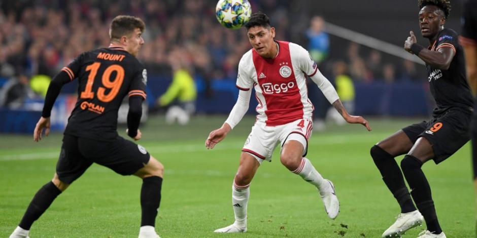 Edson Álvarez juega 89 minutos en derrota del Ajax ante el Chelsea