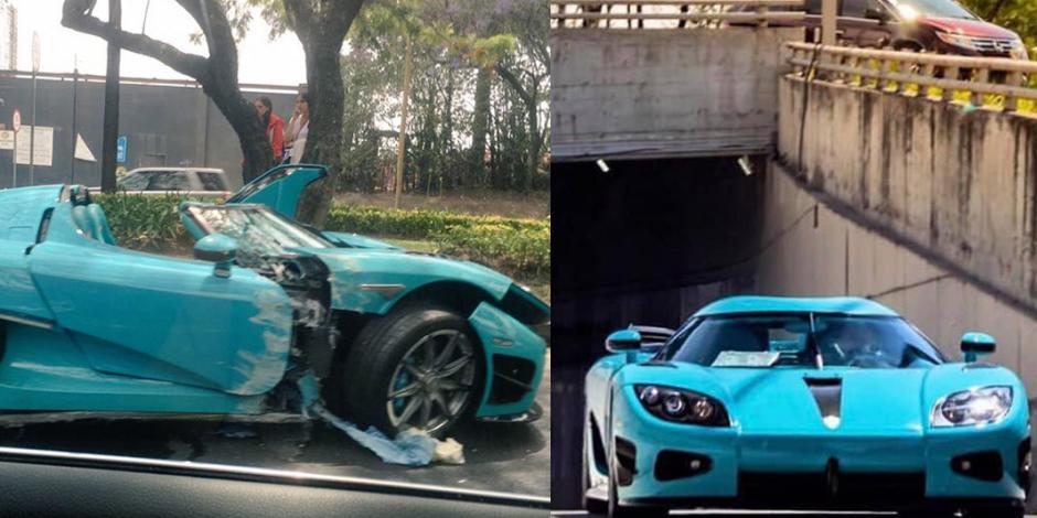 Chocan automóvil de lujo valuado en 30 millones de pesos