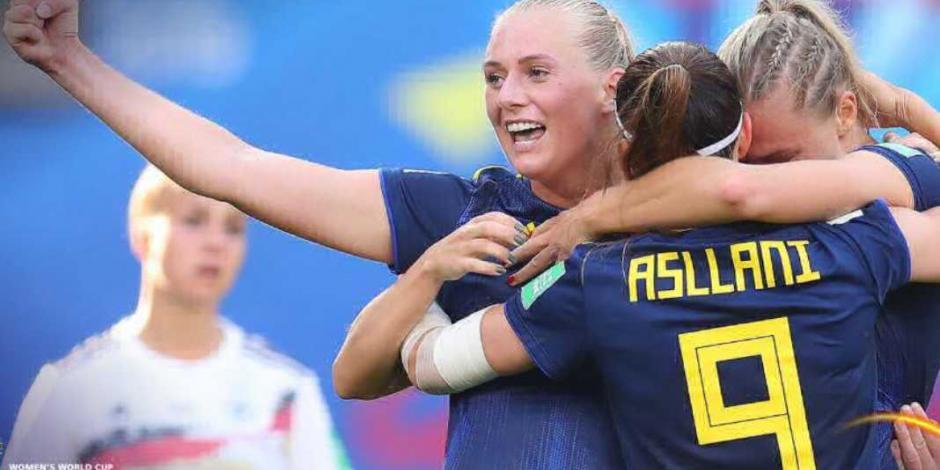 Suecia da 'golpe de autoridad', y derrota a Alemania en el Mundial Femenil