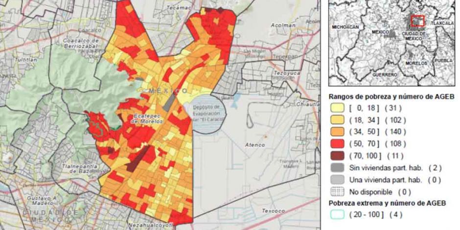 Coneval lanza plataforma digital para identificar la pobreza urbana en el país