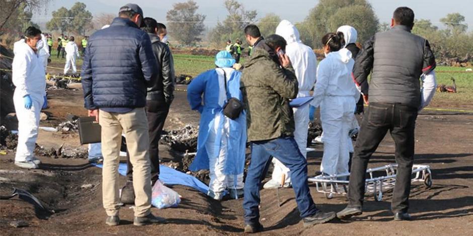 Suman 73 muertos por explosión en Tlahuelilpan