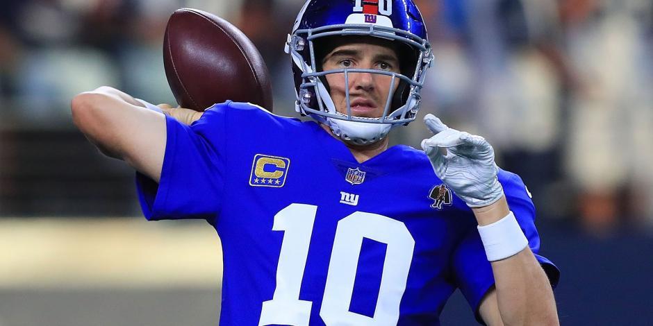 Eli Manning llegará a 16 campañas con los Gigantes este año en la NFL