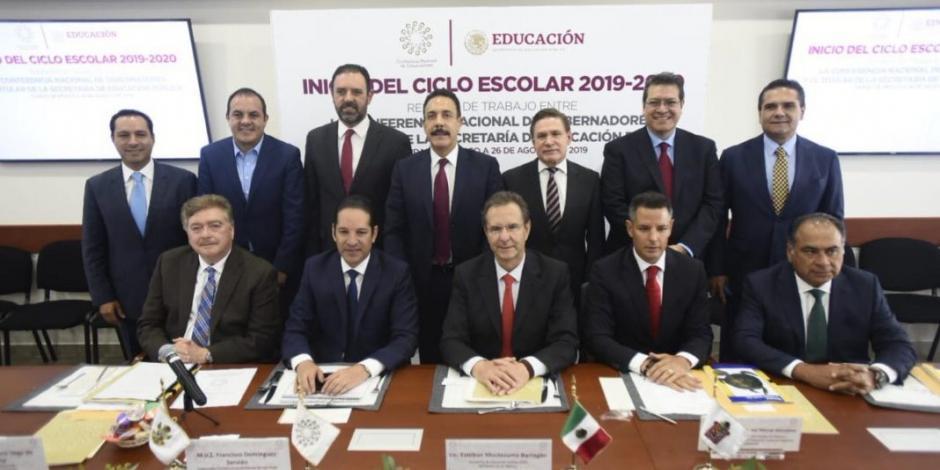 Acuerdan Moctezuma y gobernadores impulsar equidad en la educación