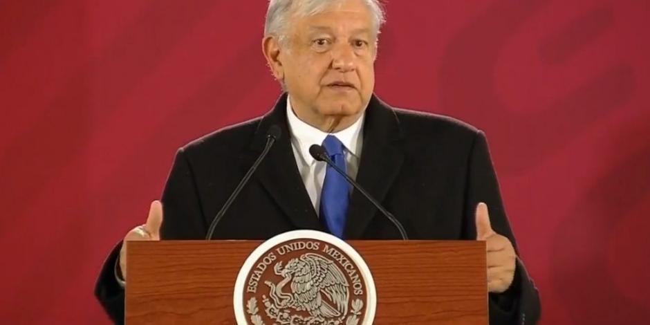 Andrés Manuel López Obrador y su mañanera del 17 de enero